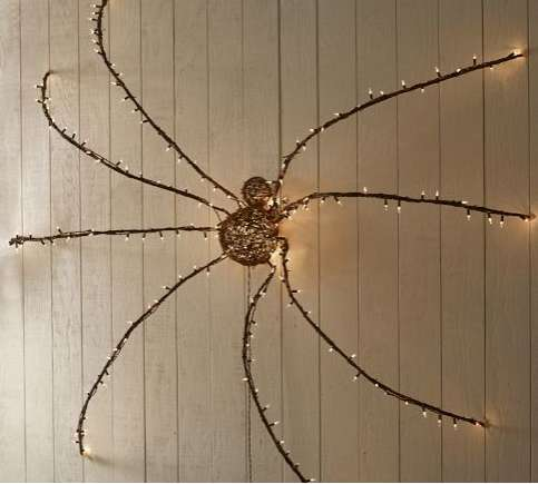 Lit Twig Giant Spider