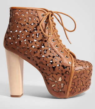 Perforated petal platforms lita daisy boots by jeffrey campbell - Jeffrey campbell lita platform boots ...