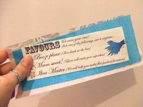 Literal Wedding Favors