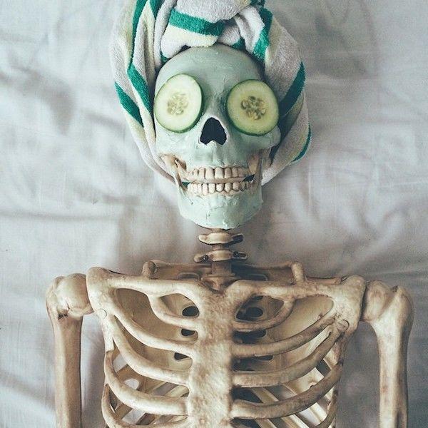 Satirical Skeleton Social Accounts