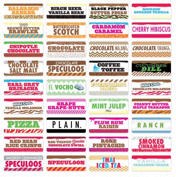 Experimental Ice Cream Flavors