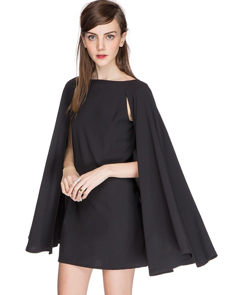 Caped Cocktail Dresses