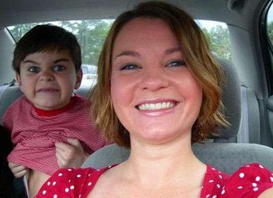 Creepy Kid Photobombs