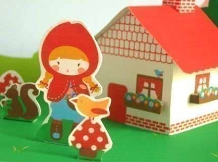 little red paper house set