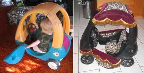 little tyke cozy coupe makeovers