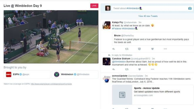 Twitter Tennis Broadcasts