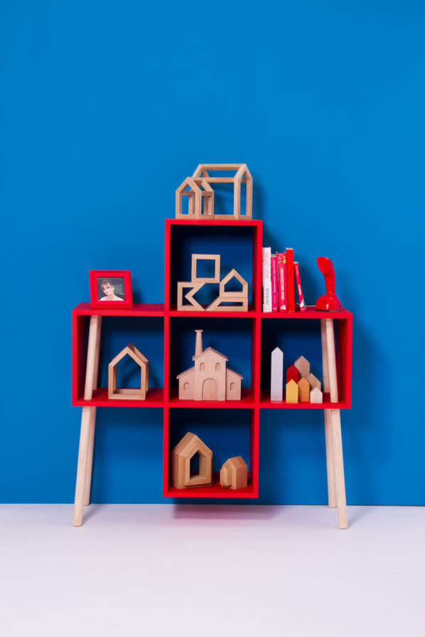 Broomstick-Inspired Shelving