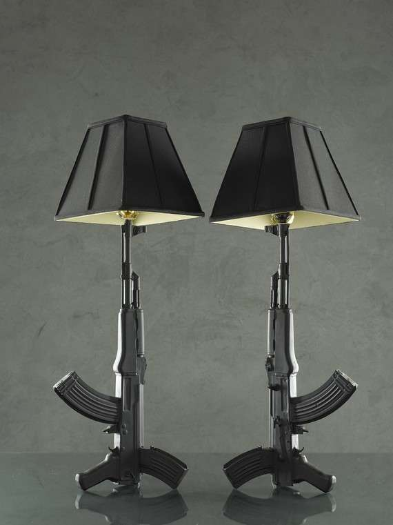 Loaded Ceramics Gun Lamps