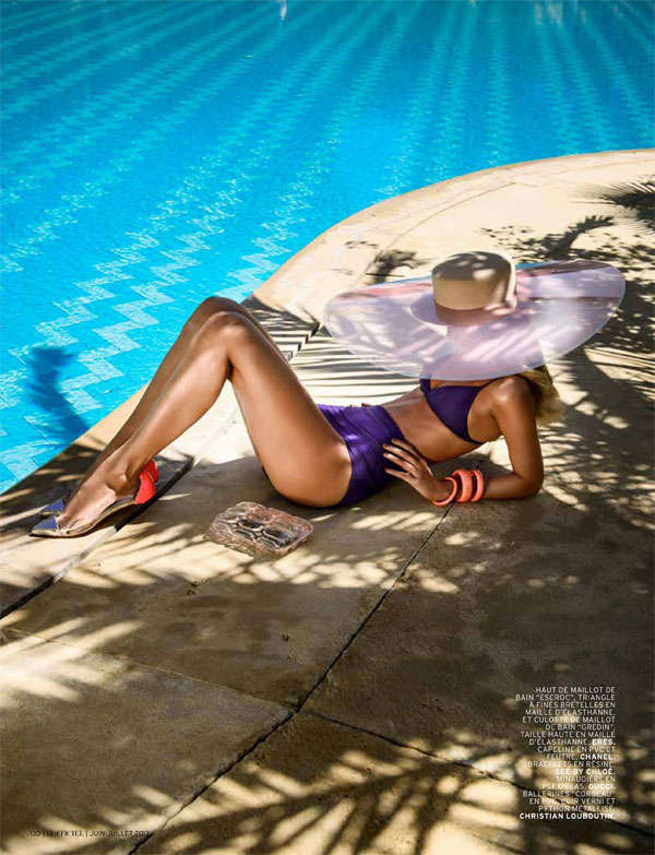 Parisian Poolside Fashion