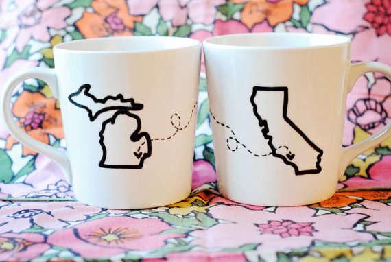 Customizable Long Distance Mugs