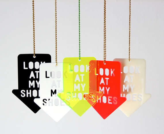 'Look At My Shoes' Necklace by Zubinski