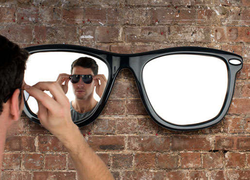 Sunglasses shaped furniture looking good mirror for Looking for mirrors