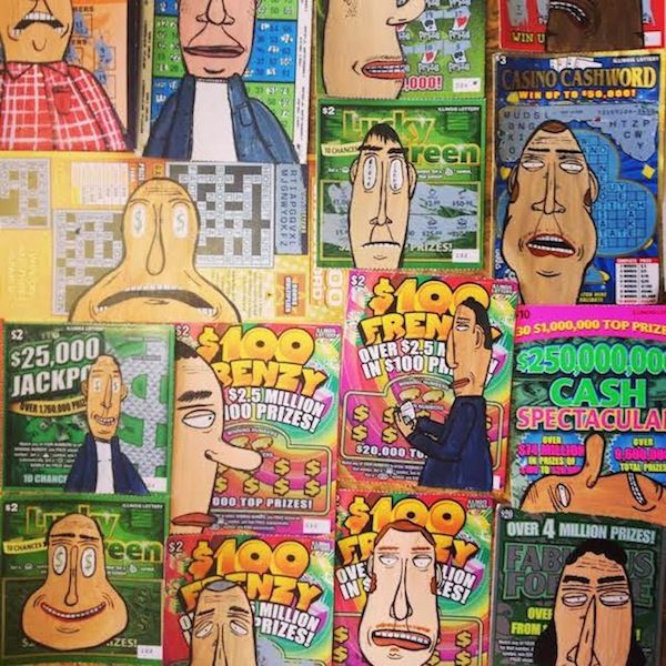 Lottery Ticket Art