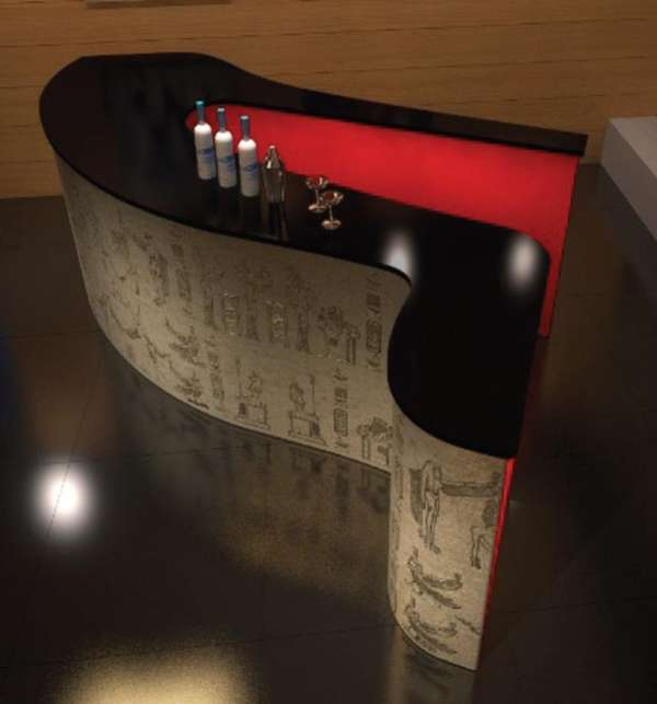 Stylish Stiletto Drink Surfaces