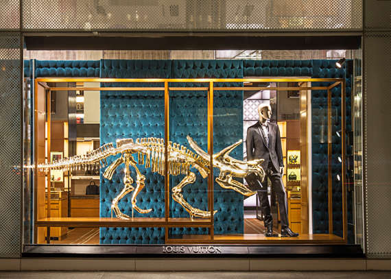 Prehistoric Luxury Fashion Displays