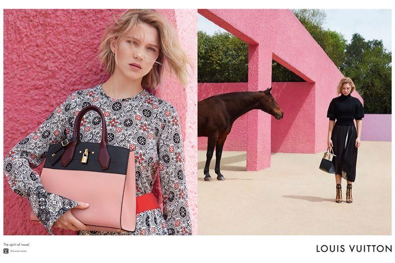 Pink-Walled Fashion Ads