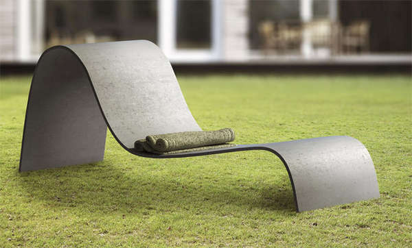 Sculptural Outdoor Seating Lounger Chair