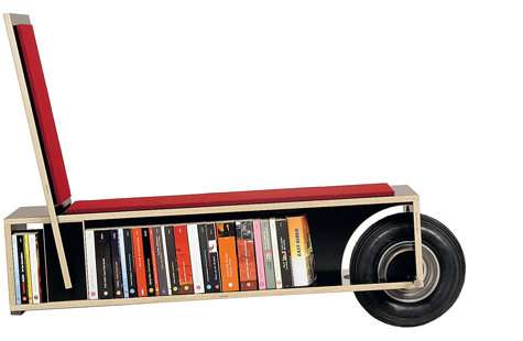 Wheelbarrow Bookshelves