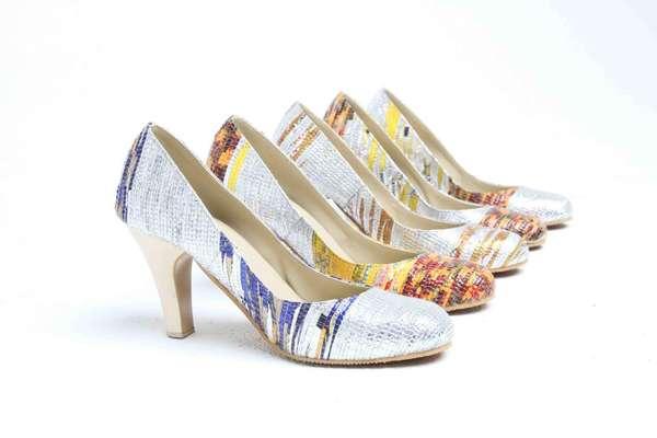 Old-World Textile Footwear