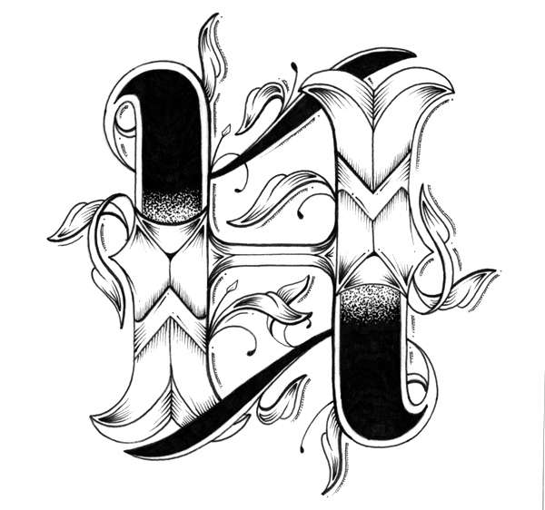 Tattoo-Inspired Typography