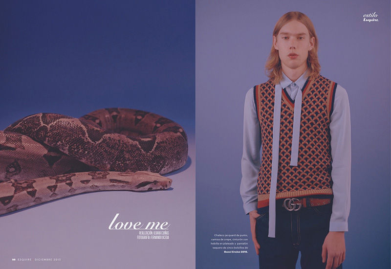 Animalistic Menswear Editorials