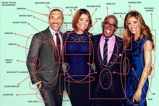 Extreme Photoshopped TV Hosts