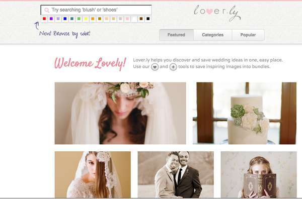 loverly online bridal scrapbook
