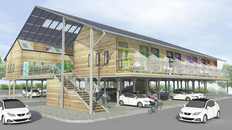 Parking Lot-Adjacent Dwellings