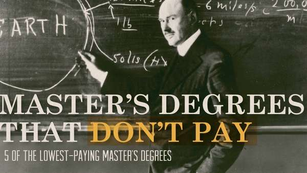 Low-Paying Degree Infographics
