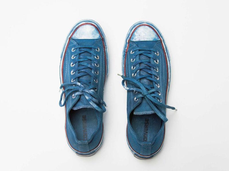 Dip-Dyed Low-Top Sneakers