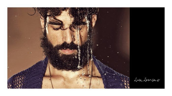 Drenched Bearded Men