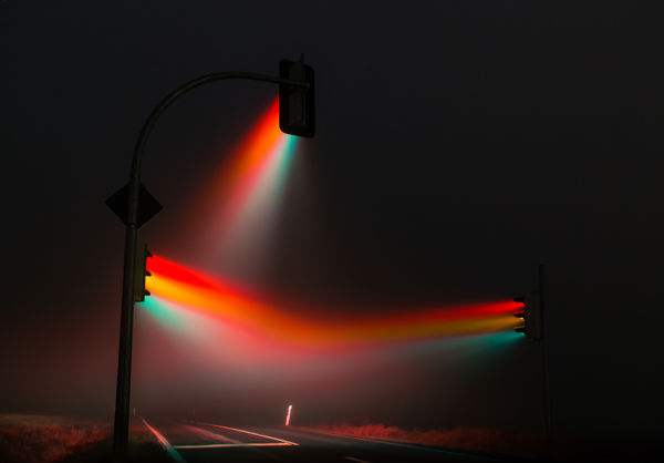 Neon Traffic Light Photographs