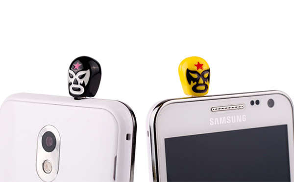 Mexican Wrestling Phone Plugs