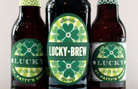 Lucky Brew Beer Labels