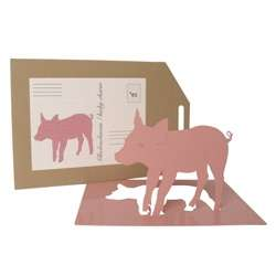 Pop-Up Piggy Postcards