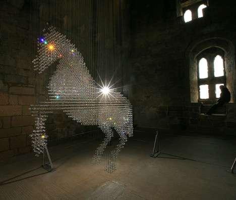 Giant Crystal Horses