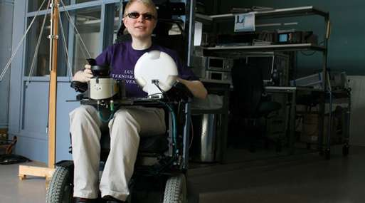 Luleå University's laser wheelchair