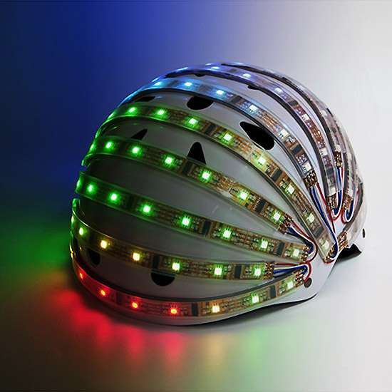 Interactive LED Helmets