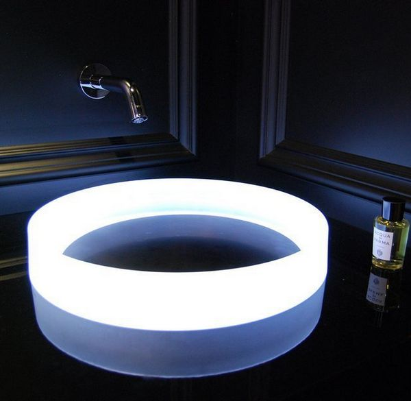Illuminating Circular Bathroom Sinks Luminist Round