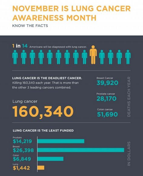 Startling Lung Cancer Infographics : lung cancer awareness ...
