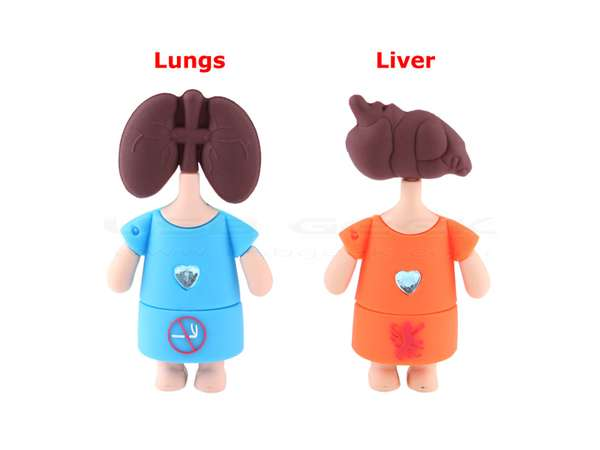 lungs liver usb drives