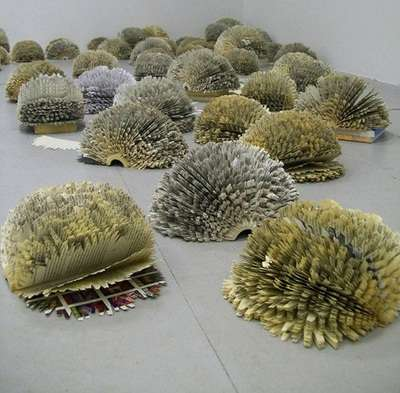 Paper Shrubbery Sculptures