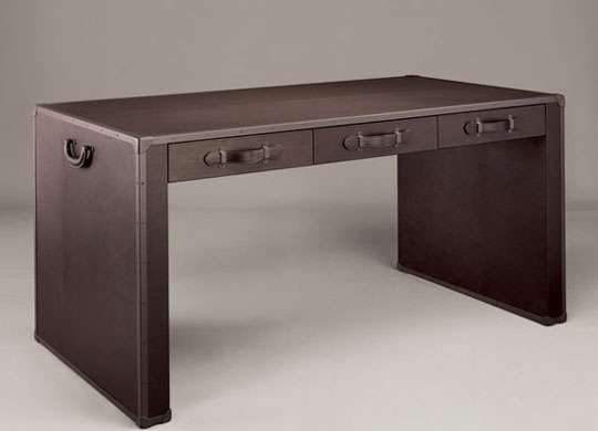 Designer Desks: Bottega Leather Home Collection
