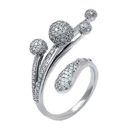 Diamond-Studded Bobble Bracelets