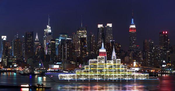 Luminous Cityscape Yachts