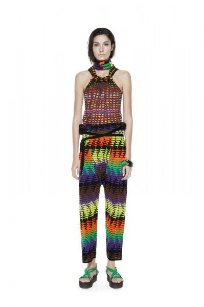 Kaleidoscopic Safari-Printed Fashions