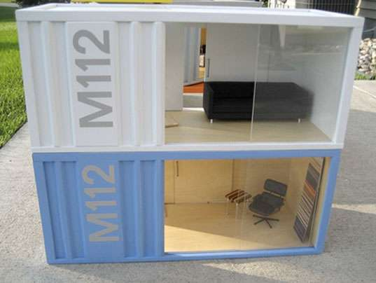 Shipping Container Doll Houses