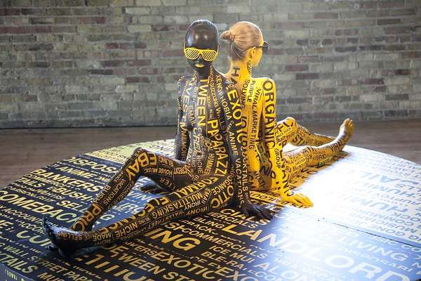 Typographic Body Painting
