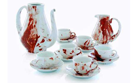 Faux Blood-Splattered China