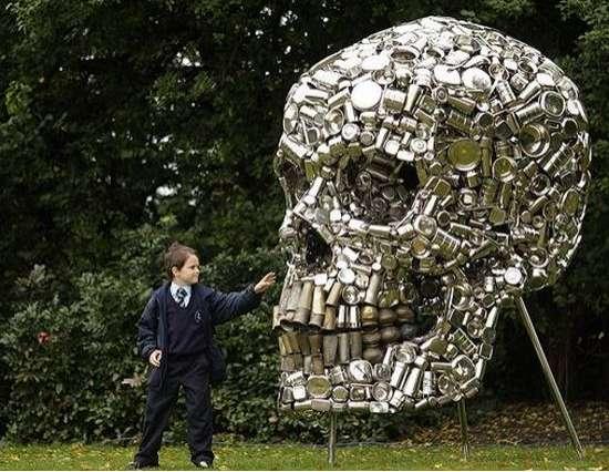 Macabre Eco-Sculptures